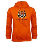 Orange Fleece Hood-Softball