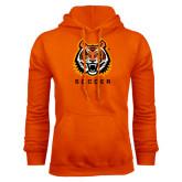 Orange Fleece Hoodie-Soccer