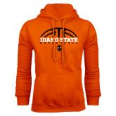 Orange Fleece Hoodie-Basketball Ball Design