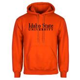 Orange Fleece Hoodie-University Mark