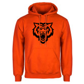 Orange Fleece Hoodie-Primary Athletics Mark - One Color