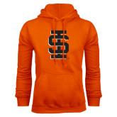Orange Fleece Hoodie-Interlocking IS