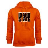 Orange Fleece Hood-Idaho State Block