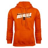 Orange Fleece Hood-Idaho State University Bengals Stacked