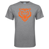 Grey T Shirt-Primary Athletics Mark - One Color