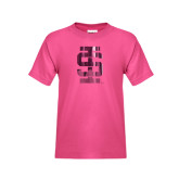 Youth Cyber Pink T Shirt-Interlocking IS Foil