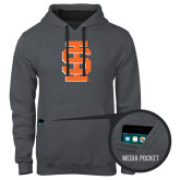 Contemporary Sofspun Charcoal Heather Hoodie-Interlocking IS