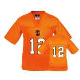 Youth Replica Orange Football Jersey-#12