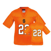 Youth Replica Orange Football Jersey-#22