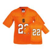Youth Replica Orange Football Jersey-#22