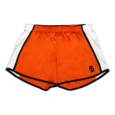 Ladies Orange/White Team Short-Interlocking IS
