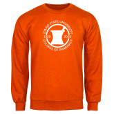 Orange Fleece Crew-Pharmacy Seal