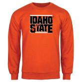 Orange Fleece Crew-Idaho State Block