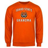 Orange Fleece Crew-Grandma