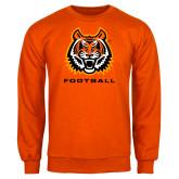 Orange Fleece Crew-Football