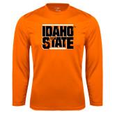Performance Orange Longsleeve Shirt-Idaho State Block