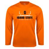 Syntrel Performance Orange Longsleeve Shirt-Football Field Design