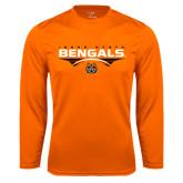 Syntrel Performance Orange Longsleeve Shirt-Football Ball Design