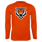 Performance Orange Longsleeve Shirt-Primary Athletics Mark