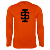 Performance Orange Longsleeve Shirt-Interlocking IS