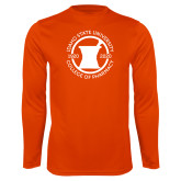 Performance Orange Longsleeve Shirt-Pharmacy Seal