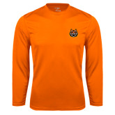Performance Orange Longsleeve Shirt-Bengal Head