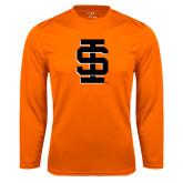 Syntrel Performance Orange Longsleeve Shirt-Interlocking IS