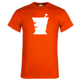 Orange T Shirt-College of Pharmacy Mortar
