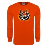 Orange Long Sleeve T Shirt-Bengal Head