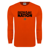 Orange Long Sleeve T Shirt-Bengal Nation