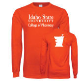 Orange Long Sleeve T Shirt-Idaho State University College Pharmacy