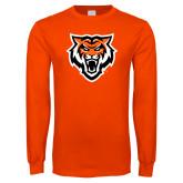 Orange Long Sleeve T Shirt-Primary Athletics Mark