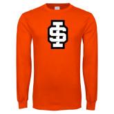 Orange Long Sleeve T Shirt-Interlocking IS - 2 Color