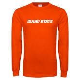 Orange Long Sleeve T Shirt-Idaho State