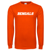 Orange Long Sleeve T Shirt-Bengals