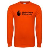 Orange Long Sleeve T Shirt-Institutional Mark