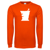 Orange Long Sleeve T Shirt-College of Pharmacy Mortar