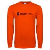 Orange Long Sleeve T Shirt-College of Pharmacy Flat