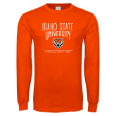 Orange Long Sleeve T Shirt-Primary Mark Distressed