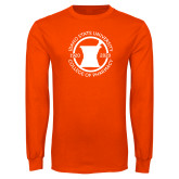 Orange Long Sleeve T Shirt-Pharmacy Seal