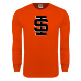 Orange Long Sleeve T Shirt-Interlocking IS