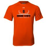 Under Armour Orange Tech Tee-Football Field Design
