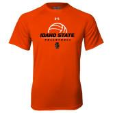 Under Armour Orange Tech Tee-Volleyball Ball Design