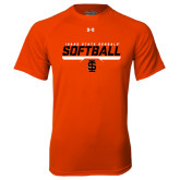 Under Armour Orange Tech Tee-Softball Bar Design