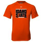 Under Armour Orange Tech Tee-Idaho State Block
