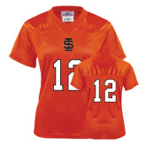 Ladies Orange Replica Football Jersey-#12