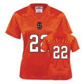 Ladies Orange Replica Football Jersey-#22