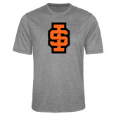 Performance Grey Heather Contender Tee-Interlocking IS - 2 Color