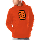 Under Armour Orange Armour Fleece Hoodie-Interlocking IS - Two Color