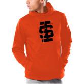 Under Armour Orange Armour Fleece Hoodie-Interlocking IS - One Color